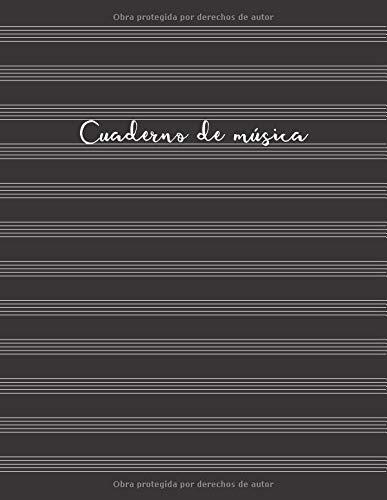 Cuaderno de música Cuaderno de pentagramas - Cubierta negra (Cuadernos de música)  [Cuadernos Prácticos y Útiles] (Tapa Blanda)