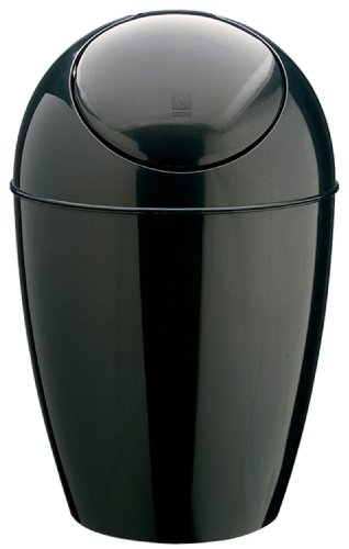 Umbra Eco-Friendly 2.5-Gallon Sway Can, Black Recycled