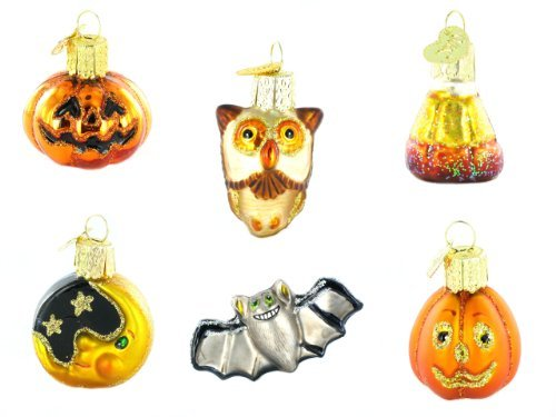 Old World Christmas Mini Halloween Ornament Set