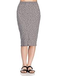 Femella Women's skirt (DS-1599711-913_Grey_Large)