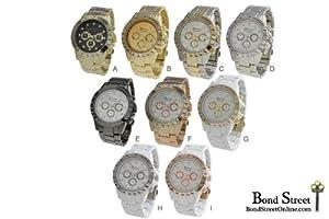 Wholesale Lot of 6 PCS Geneva Designer Inspired Bracelet Watches - 9314