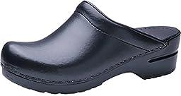 Dansko Women's Sonja Black Box Leather Casual 9 B(M) US
