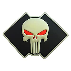 Glow Dark Punisher Crâne US Marine Navy Seals DEVGRU PVC 3D Gomme Velcro Écusson Patch