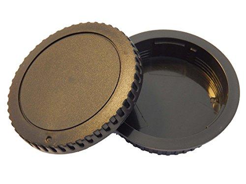 vhbw Objektiv Deckel Set für Kamera Canon EOS 1D 5D Mark II 6D, 7D 20D 30D 40D 50D 60D 70D 350D 400D 450D 500D 550D 600D 650D 700D 1000D 1100D.