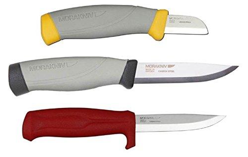Bundle - 3 Items: Morakniv Craftline Highq Electrician Carbon Steel Knife, Morakniv Craftline Highq Robust Carbon Steel Knife, And Morakniv Craftline Q Allround 511 Carbon Steel Knife