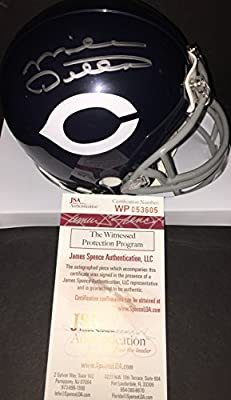Mike Ditka Chicago Bears Autographed Signed Mini Helmet JSA WITNESS COA