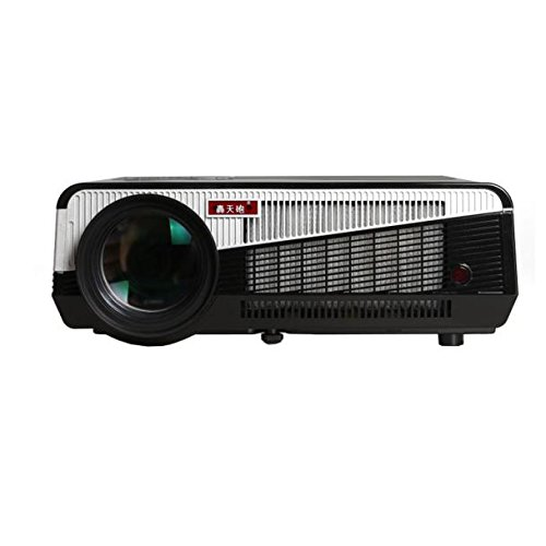 Projector, EEDI Ultra-Gorgeous Exquisite Fashion LED-86+WIFI Android 4.4 Full HD Bluetooth LCD 3D WIFI Projector 200inch Projection Enjoy Home Cinema Wireless Phone-Black