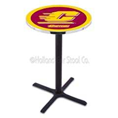 Buy Central Michigan Chippewas Black Pub Table by Covers HBS