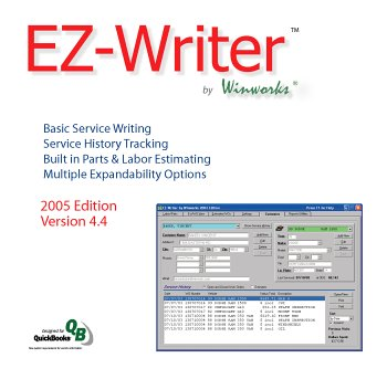 EZ-Writer by Winworks - Automotive Service Writing Software