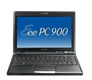 ASUS Eee PC 900 8.9-Inch Netbook (Intel Mobile Processor, 1 GB RAM, 16 GB Solid State Drive, Linux, 4 Cell Battery) Galaxy Black