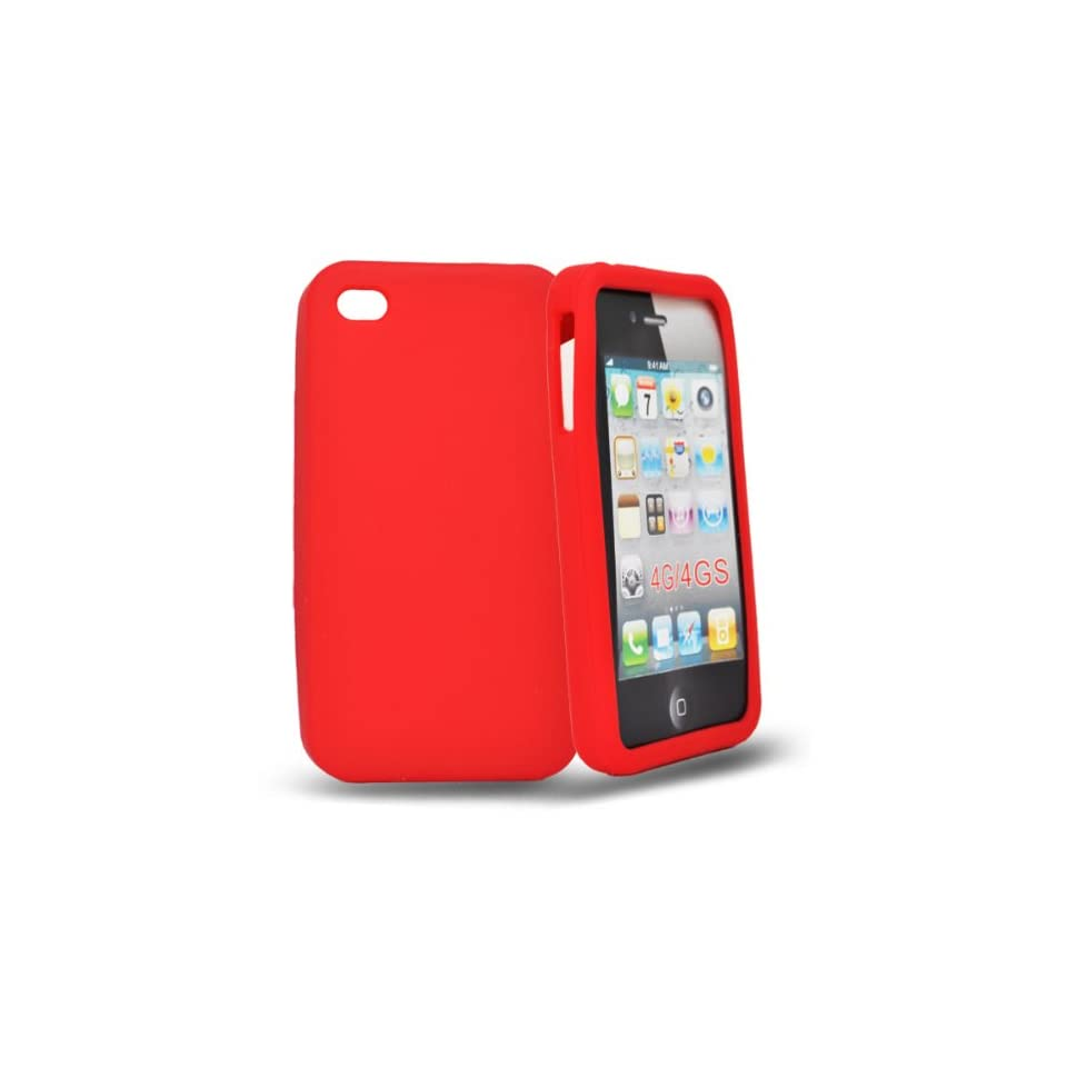 Mobile Palace  Red silicone case cover for apple iphone 4s