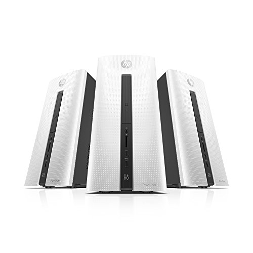 HP Pavilion Desktop 550-102nf Unité Centrale Blanc Glacial (Intel Core i5, 4 Go de RAM, + 1 To Supplémentaire, AMD Radeon R5,Windows 10 Home)