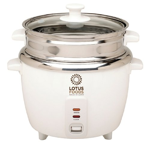 Lotus Foods Stainless Steel Rice Cooker and Steamer, 12 Cup Capacity