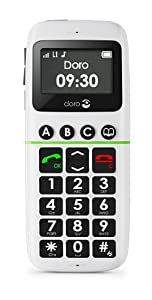 Doro 338GSM Easy to Use Sim Free Mobile Phone - White