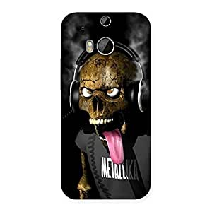 Metal Tounge Back Case Cover for HTC One M8