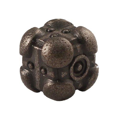 1 (One) Single IronDie: Solid Metal Italian Dice - Black Powerup (Die-Cast Designer Six-Sided Die / d6) - 1