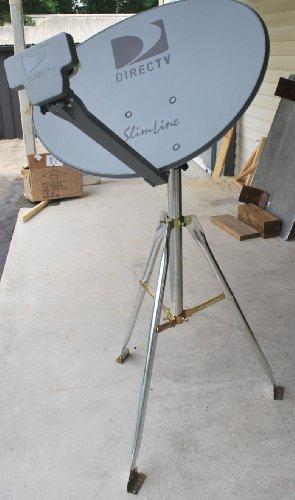 """DIRECTV 3LNB SLIMLINE DISH KAKU SL3 SWM HD RV 3"""" TRIPOD TAILGATING KIT GENIES & H25"""