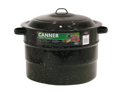Granite Ware 0707-1 Steel/Porcelain Water-Bath Canner with Rack, 21.5-Quart, Black (Hot Water Bath Pot compare prices)