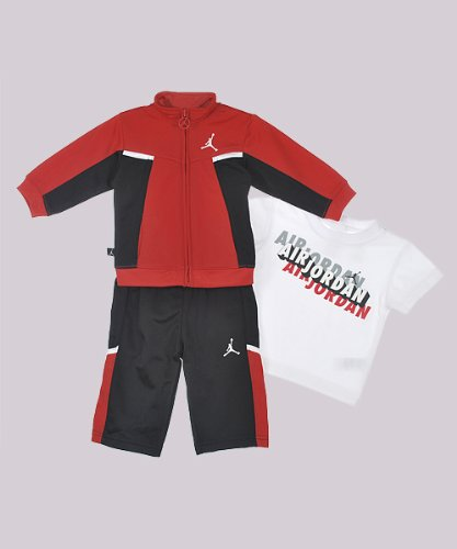 "Jordan ""On Tilt"" 3-Piece Outfit (Sizes 0M - 9M) - black/red, 6 - 9 months"