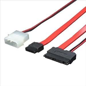変換名人 microSATA - SATA(7ピン)+SATA電源(15ピン)変換ケーブル MSATA-SATA1