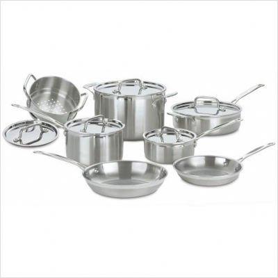 Cuisinart Multiclad Pro Stainless 12 Piece Cookware Set