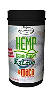 Ruth's Hemp Foods Protein with E3Live and Maca, 16 Ounce