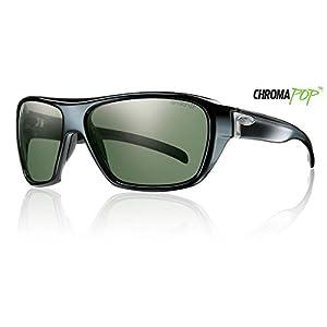 Smith Optics Chief Premium Performance Polarized Designer Sunglasses - Black/Chromapop Gray Green / Size 62-14-130