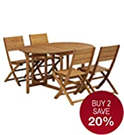 Barnsdale Oval Table & 4 Chairs
