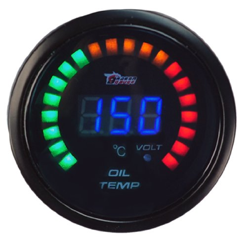 New 2Inches 52Mm Digital Color Analog Led Oil Temp Temperature Meter Racing Gauge For Auto Car