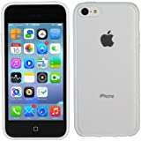 TeckNet New Apple iPhone 5C Bumper Case for Apple New iPhone 5 C, Shock Absorption Bumper + Anti Scratch Clear Back and Apple iPhone 5c Screen Protectors - Clear