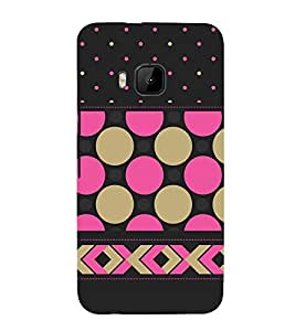 Girly Dotted Checks Pattern 3D Hard Polycarbonate Designer Back Case Cover for HTC One M9 :: HTC M9 :: HTC One Hima