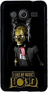 PrintVisa Quotes Music Skull Back Cover for Samsung Galaxy Core 2 (2D-SCR2-D8043)