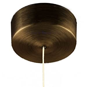 Brushed Antique Brass Effect Plated Steel Covered Bathroom Ceiling Light Pull Switch With Cord