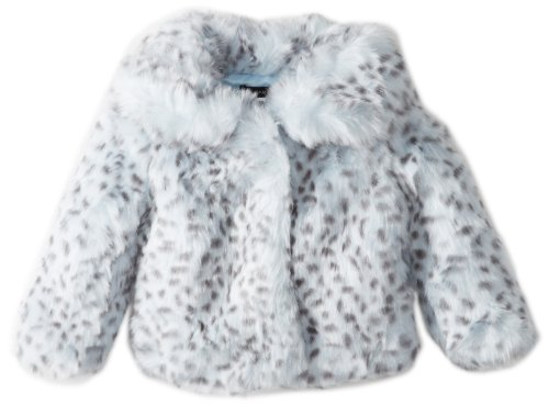 Today Sale Kate Mack Baby-Girls Born To Be Wild Infant Faux Fur Jacket, Blue, 9 Months  Best Offer