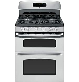 GE JGB870SETSS 30 Stainless Steel Gas Sealed Burner Double Oven Range