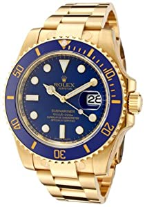 Men's Submariner Automatic Blue Dial Oyster 18k Solid Gold