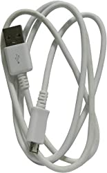 E - COSMOS Charging/Data Cable for Panasonic T40 USB Cable (White)