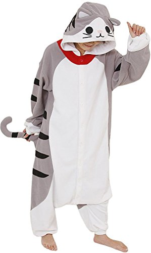 Unisex-adult Kigurumi Onesie Cheese Cat Pajamas Festival Gift S (Halloween Costumes International Shipping)
