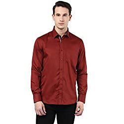 MENS COTTON SHIRT RED L