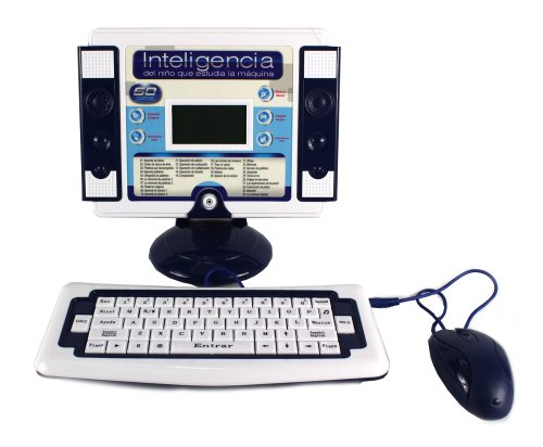 'Ultimate Study Machine' Bilingual Educational Toy Desktop Computer Set for Kids, Learn & Play in English/Spanish, 60