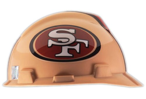 MSA Safety Works 818440 NFL Hard Hat, San Francisco 49ers at Amazon.com