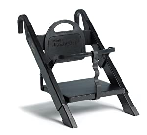 Minui HandySitt Highchair - Black & Brushed Steel