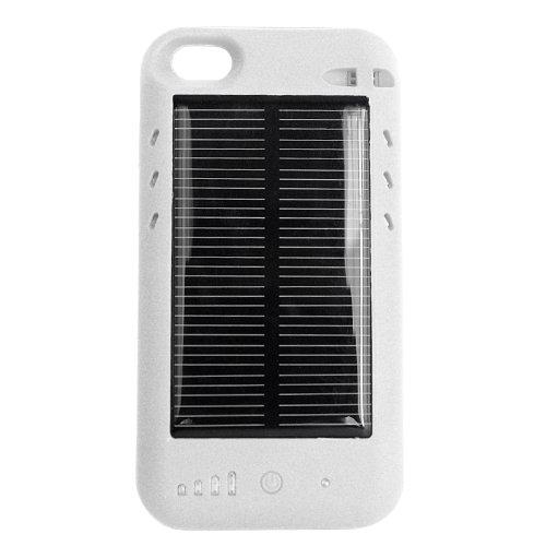 ソーラーバッテリー 内蔵ケース ( おでかけチャージャーソーラー ) 2400mAh iPhone4S ケース一体型 大容量 予備電池 ソーラーパネル ( 太陽電池 ) モバイルバッテリー mophie juice pack plus / mophie juice pack air / eneloop / enecycle /iBUFFALO ミヨシ MCO ポケットソーラーバッテリー パワーバンク パワーフィルム AA ソーラーチャージャー AAL-BL パワーフィルム PowerFilm ソーラーチャージャーバッテリー Arctic Cooling / 同等クラス の 大容量バッテリー と 太陽光充電 一体型充電器 なのでiPhone4 電源 としても 便利 / 通勤 ・ 出張 ・ 旅行 ・ 帰省 ・ アウトドア に最適 選べる 二色( 白 ホワイト )/ USB でも 電源補充