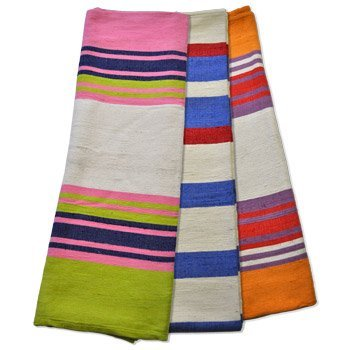 Colorful Cotton Yoga Blanket - Heavy