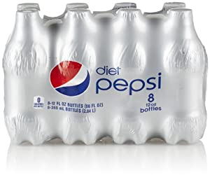 Diet Pepsi Bottle (8 Count, 12 Fl Oz Each)