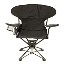 rEvolve Swiveling Portable Chair, Black