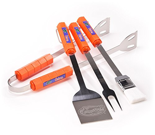Ncaa 4 Piece BBQ Set: Florida Gators *** Product Description: Tailgating Never Looked So Good! This Stainless Steel BBQ Set Is A Perfect Way Of Showing Your Team Pride On Game Day. Each Utensil Is Printed With Your Favorite College Team'S Artwork ***