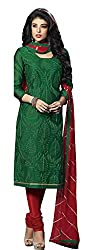 Lt Nitya Women's Cotton Unstiched Dress Material (p003_Green)