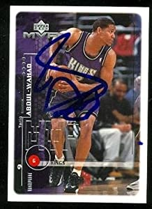 Tariq Abdul-Wahad Autographed Hand Signed Basketball card (Sacramento Kings) 1999... by Hall of Fame Memorabilia