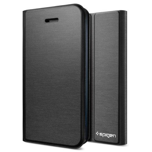 SPIGEN SGP iPhone5S/5 ケース スリムワレット シリーズ [メタリック・ブラック] SGP10479